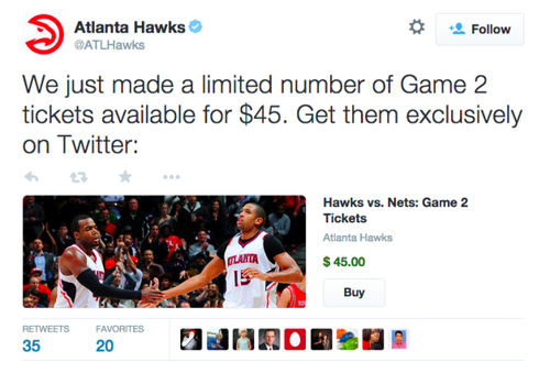 Twitter Begins Selling Sports Tickets