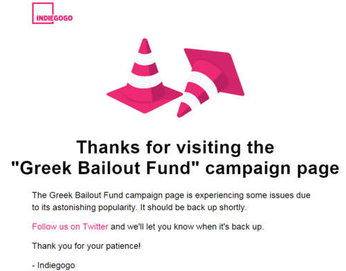 Paying off Greece's debt - via crowd-funding