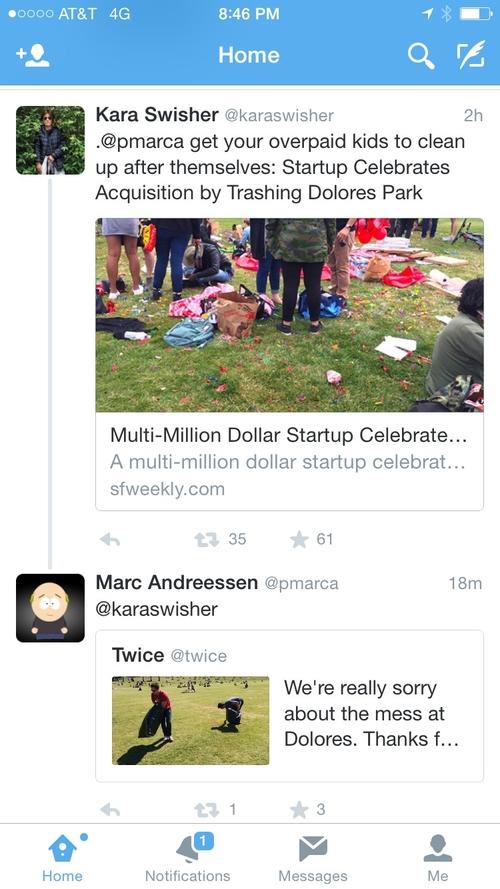 Multi-Million Dollar Startup Celebrates Acquisition by Trashing Dolores Park