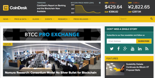 Digital Currency Group Acquires Top Bitcoin Trade Publication CoinDesk