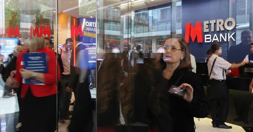 British Lender Metro Bank Rises 4 Percent in London Debut
