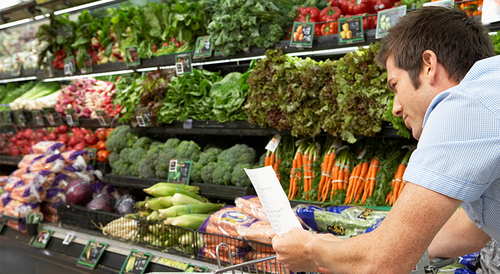 Insurance policy rewards employees' healthy shopping choices with cash