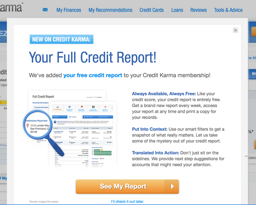 Credit Karma rolls out free weekly credit reports