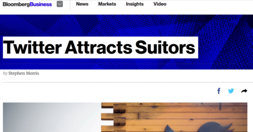 Fake Twitter Acquisition News Sends Shares Soaring