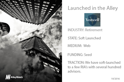 Vestwell founder Aaron Schumm interviewed by AlleyWatch