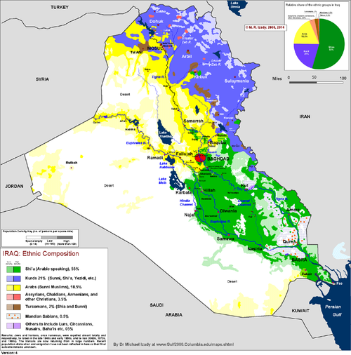 27 Maps that (help to) explain the crisis in Iraq