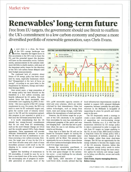 Renewables' long-term future
