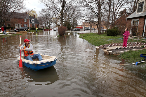 Climate change posing challenges for flood management