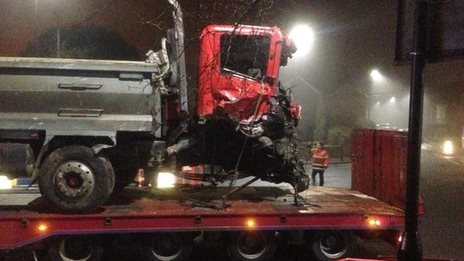 Bath fatal tipper truck crash
