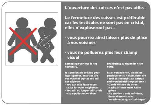Campagne contre la violence masculine dans le métro parisien