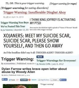 Triggers warnings