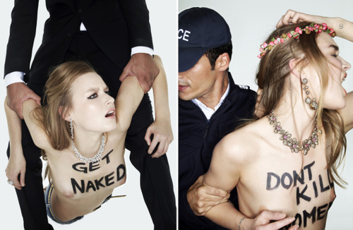 Femen, ou la nudité-spectacle