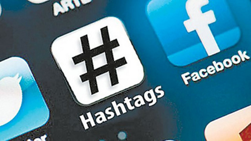 A list of top professional services marketing hashtags