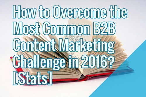 What will be the most common B2B Content Marketing Challenge in 2016?