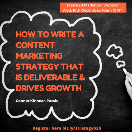 How to write a B2B content marketing strategy that drives growth