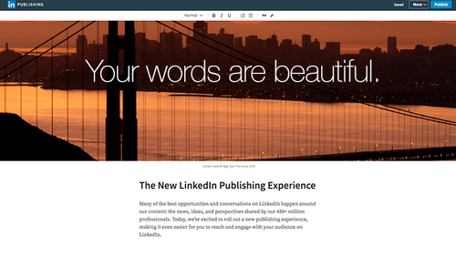 LinkedIn improves its publishing interface