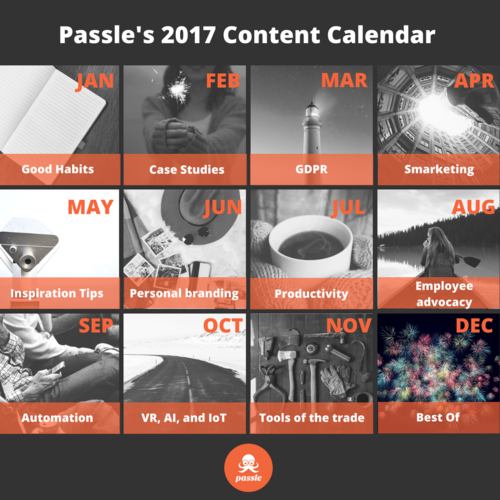 What does your content calendar look like?