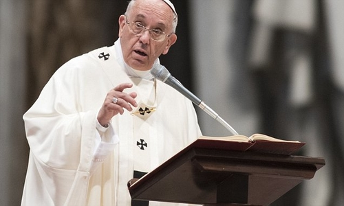 The pope blames low marriage rates on fear of divorce