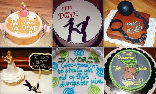 The divorce cakes couples are ordering to celebrate the end of their marriages