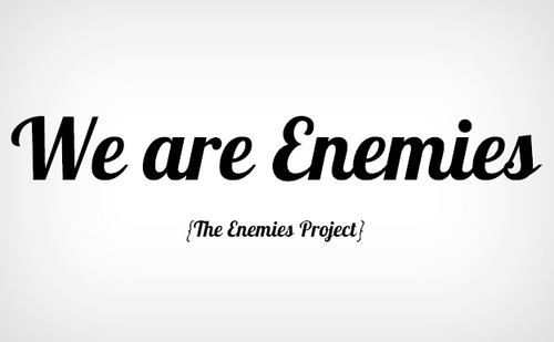 Yes, but are we (poetic) enemies?