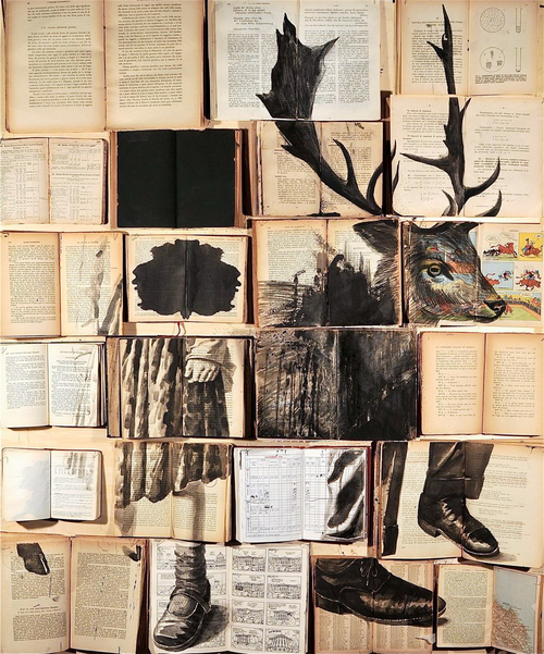 Recycling Books into Art