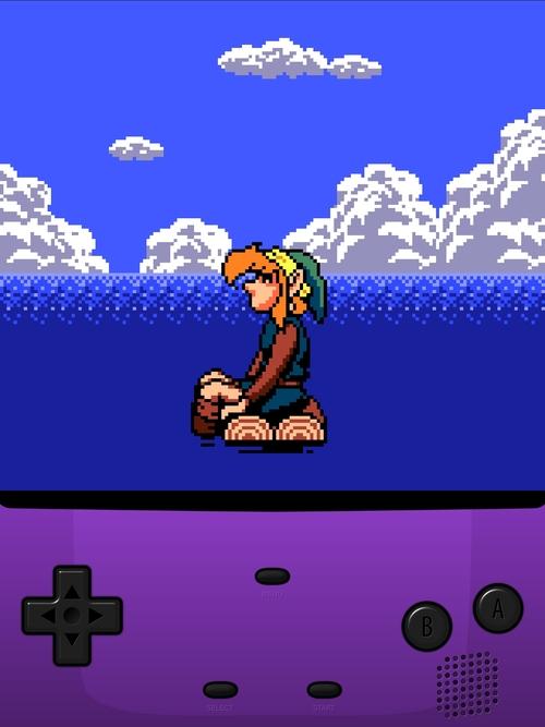Link stranded in the ocean.