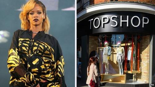 Pop star Rihanna wins Top Shop battle