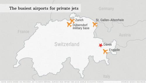 I super ricchi affollano i cieli di Davos