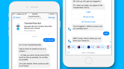 TransferWise launches Facebook Messenger bot for easy global moneytransfers