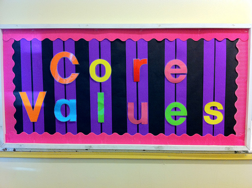 Values - the DNA of how you're distinctive