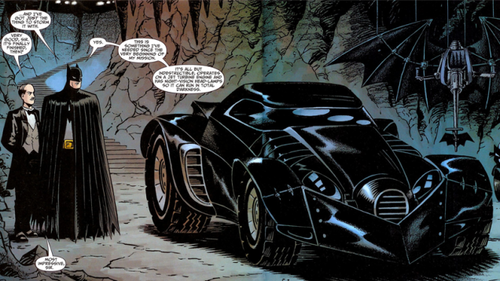 Batman retains Batmobile.