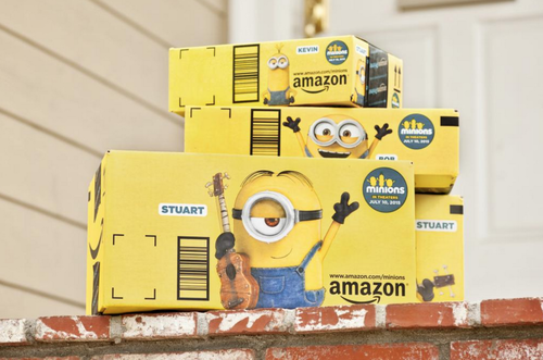 Minions have taken over shipping boxes