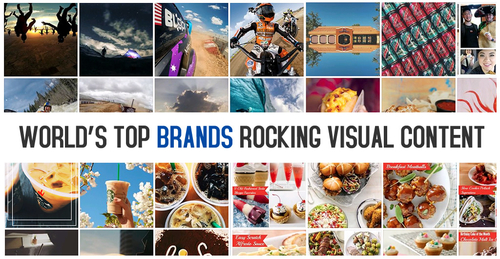The images behind the top brands