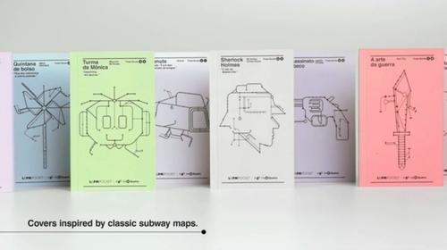 Des livres qui servent de tickets de metro