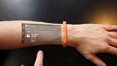 Cicret Bracelet. The Screen of the Future - at Arms Length