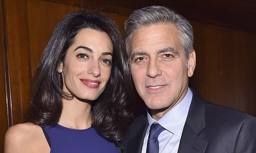 George Clooney.. and his eyesore fence