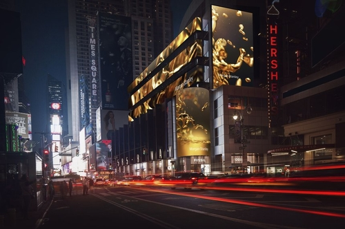 Today we are loving: the Morgan Stanley display at Times Square