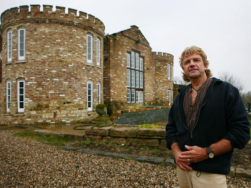Farmer claims he cannot knock down mock-Tudor castle built without permission because of bats
