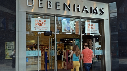 What value a letter of comfort at Debenhams?