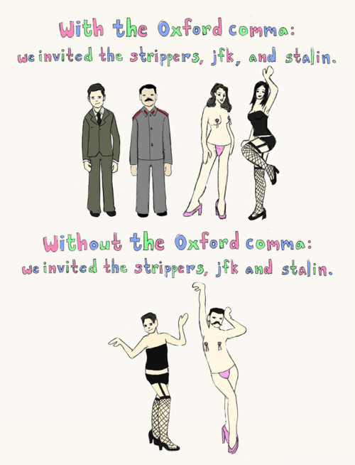 Who gives a fxxx about an Oxford comma?