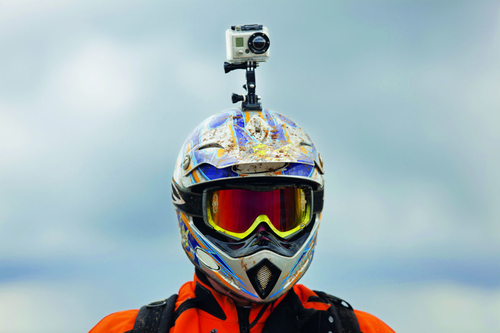 Motorcyclists who wear helmet-mounted cameras could be at higher risk of crashing and serious injury