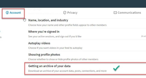 Tip: Download your LinkedIn Data before 31 May 2017