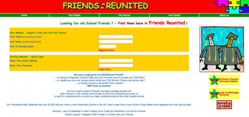 the end of FriendsReunited