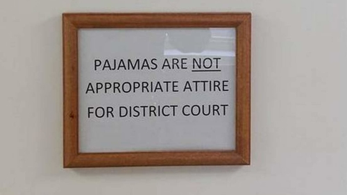 Judge Bans People Wearing Pyjamas In Court