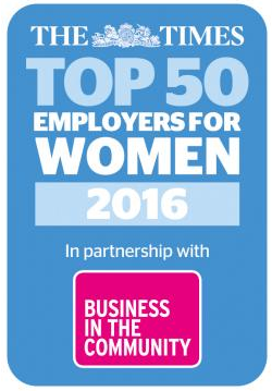 Which are the top 50 employers for women?
