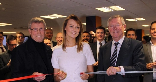 Apprentice gets Sir Alex to open new office