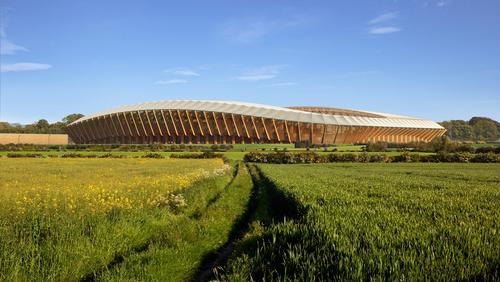 The world's first wooden football stadium!