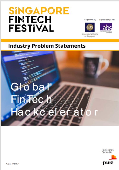 Release of FinTech & InsurTech Challenges for Singapore's November FinTech Festival