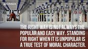 If you have no moral compass you will FAIL