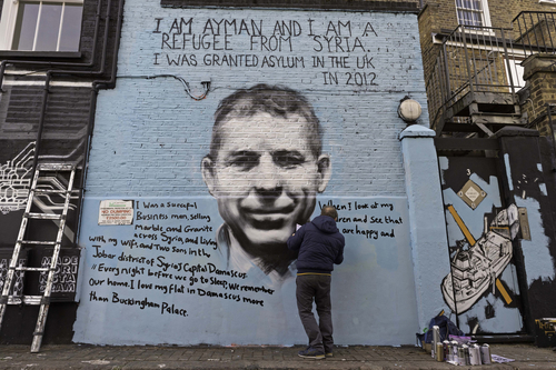 New Camden street art takes political aim